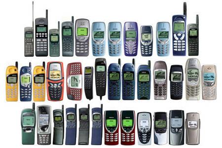 perbandingan fisik antara smartphone dan hp jadul